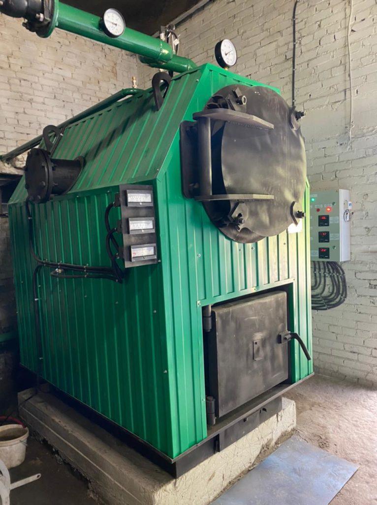Монтаж водотрубно-дымогарного котла КВр 0,5 МВт